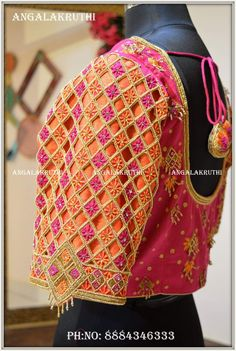 Bridal blouse designs by Angalakruthi Bangalore India Wedding blouse designs Bridal work blouse Bridal boutique in Bangalore Maggam work blouse designs Hand embroidery design Blouse embroidery design Neck designs Cutwork Blouse Designs, Wedding Saree Blouse Designs, Fancy Blouse Designs, Blouse Neck Designs, Sleeve Designs, Cut Work Blouse, Hand Work Blouse Design, Aari Work Blouse, Embroidery Designs