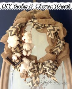 Burlap Chevron Wreath Tutorial
