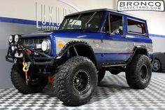 Blue and silver bronco