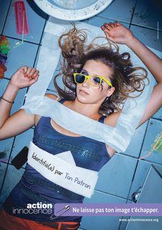 En octobre 2012, l'association Action Innocence Suisse a lancé une nouvelle campagne avec 2 visuels choc (cf. dans cet article) pour sensibiliser les adolescents et jeunes adultes à la protection de son identité numérique : Ne laisse pas ton image t'échapper. L'objectif est d'informer et faire réfléchir les jeunes sans moraliser et diaboliser les pratiques Internet et réseaux sociaux.