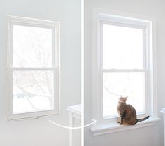 Installing Window Sills and Trim. Key is making a cardboard template Interior Window Sill, Interior Windows, Window Sill Trim, Windows Decor, Moldings And Trim, Home Upgrades, Home Repairs, Diy Home Improvement, Windows And Doors