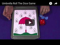 Umbrella Roll The Dice Game Dice Games, Math Centers, Rolls, Pattern, Fun, Model, Patterns, Wraps, Bread Rolls
