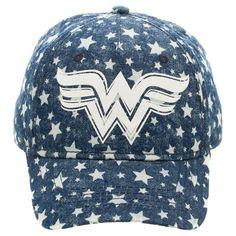 DC Comics Wonder Woman Girls' Baseball Hat - Blue OSFM
