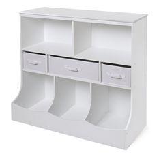 White 3-basket Storage Bin Unit (Combo Bin Storage Unit with Three Baskets - White)  sc 1 st  Pinterest & HDS Trading 9-Bin Storage Shelf - Bed Bath u0026 Beyond   All about ...