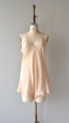 Vintage 1920s blush silk step-in with lace trim and double snaps between the legs. ✂-----Measurements  fits like: large bust: 38-42 waist: up to 40