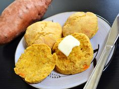Sweet potato biscuits are a unique way to add flavor and nutrients to a classic biscuit.