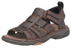 Clarks Men's Merrimack Sandal, Brown Oily Leather, 9 M Clarks. $83.13