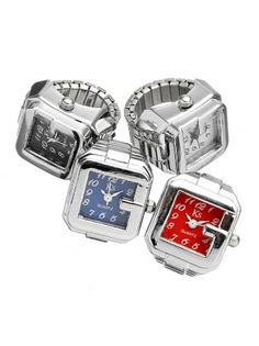 Square Watch Face Ring Watch