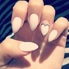 Pink stiletto nails - 40 Cute Nail Designs <3 <3
