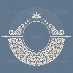 Round Floral Frame - Borders Decorative - Sister and Brother Stencil Patterns, Stencil Art, Stencil Designs, Pattern Art, Designs To Draw, Stencils, Islamic Motifs, Islamic Art Pattern, Alpona Design