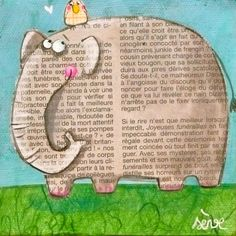 Love this bright, funny pic!  Esp. the face on the elephant!!!!!