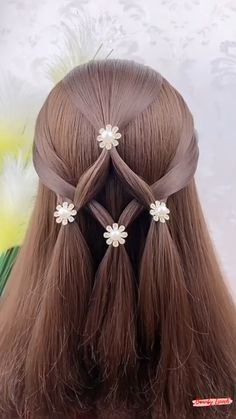 Easy Hairstyles For Long Hair, Braids For Long Hair, Straight Hairstyles, Braided Hairstyles, Hair Style Vedio, Front Hair Styles, Clip In Hair Extensions, Hair Videos, Hair Pieces