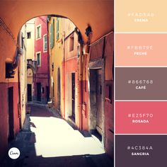 Siesta Hour 16 This is a warm and rosy palette made up of a mix of fruity neutral tones and darker more intense colors. Warm and inviting, this combination is well suited to a brand in the food and wine industry. Colour Pallette, Colour Schemes, Color Patterns, Color Combinations, Purple Color Palettes, Couleur Html, Pantone, Unique Colors, Vibrant Colors