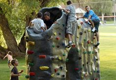 Ideas, backyard for kids, modern backyard, backyard sports, climbing wa Backyard Sports, Backyard For Kids, Climbing Wall, Rock Climbing, Kids Climbing, Kids Playset Outdoor, Outdoor Playhouses, Physical Activities For Kids, Beach Activities