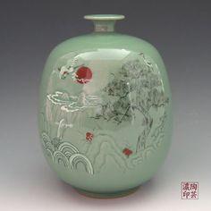 Korean celadon pottery