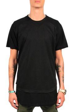 Seize&Desist The Zach Inverted Double Layered Tall TeeBlack - Karmaloop.com