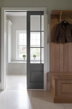Cranbrook Project - Humphrey Munson Kitchens Boot Room Utility, Small Tv Cabinet, Humphrey Munson, Laundry Room Doors, Cottage Renovation, Hallway Storage, Hallway Designs, Amber Interiors, Wet Rooms