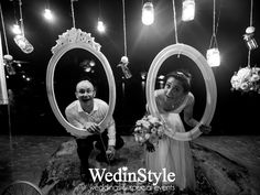 Floating frames backdrop for wedding photobooth | By WedinStyle in Nha Trang, Vietnam