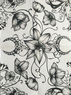 Flower horn doodle
