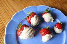 Coconut-Cardamom Dipped Strawberries