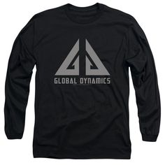 EUREKA/GLOBAL DYNAMICS LOGO - L/S ADULT 18/1 - BLACK - 2X - BLACK -
