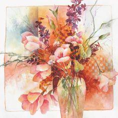 Watercolor from Karlyn Holman Watercolor Images, Abstract Watercolor, Watercolor And Ink, Watercolor Flowers, Watercolor Paintings, Watercolor Ideas, Watercolors, Autumn Painting, Fashion Painting