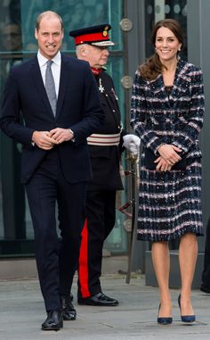 Prince William, Duke of Cambridge and Catherine, Duchess of Cambridge visit the National Football Museum on October 14, 2016 in Manchester, England.