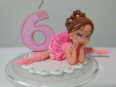 Vela de biscuit bailarina | Aninha Bisuit | Elo7