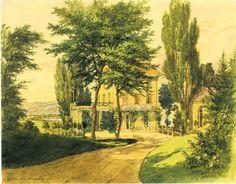 Schloss Arenenberg Zufahrt von Osten und Pleasure-Ground.