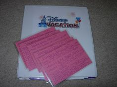 How to make Do it Yourself Disney Vacation Binders! GREAT PIN!