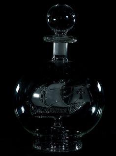 Black | 黒 | Kuro | Nero | Noir | Preto | Ebony | Sable | Onyx | Charcoal | Obsidian | Jet | Raven | Color | Texture | Pattern | Styling | Ship | Bottle | Glass | by rumpelstiltskin1 | via Flickr