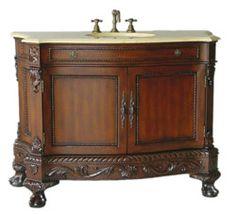 "50"" Diana DA-679 : bathroom vanity #BathroomRemodel #BlondyBathHome #BathroomVanity  #TraditionalVanity"