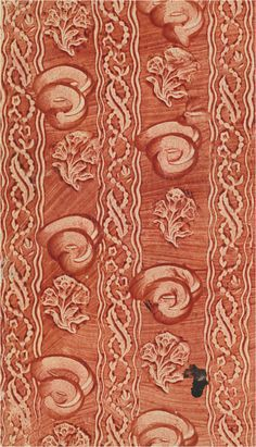 Stijfselverfpapier met ingedrukte decoratie, eind 18e eeuw. [PC SERIE W 19]