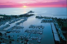 Daybreak at the St. Pete Pier & Marina.