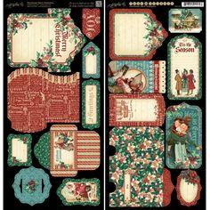 Graphic 45 - A Christmas Carol Collection - Tags