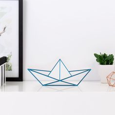 """Deko-Objekte - KLEINLAUT ORIGAMI 3D-Motiv """"Papierboot""""  - ein Designerstück von Wandkings-de bei DaWanda"""