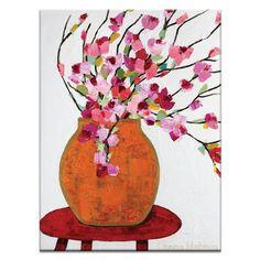 Magnolia Pot by Anna Blatman Painting Print on Canvas