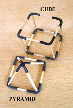 Matchstick bicycle tube 3d figures. Perfect for my students