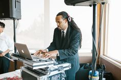 DJ Van Petty at Diana and Dan's Chesapeake Bay Foundation wedding! Image courtesy of Victoria Selman Photography  http://www.victoriaselman.com