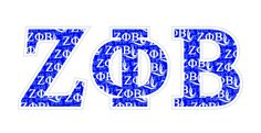 "Zeta Phi Beta Mascot Greek Letter Sticker - 2.5"" Tall Tall from GreekGear.com"