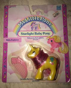 VINTAGE MY LITTLE PONY •STARLIGHT BABY PONY••BABY EXPLORER••MOC•