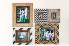 Navy and Gold Portrait Gallery Wall of Frames by deltagirlframes