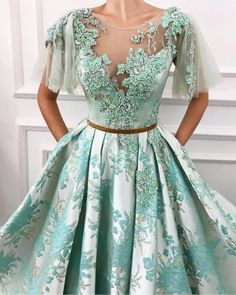 Details - Baby blue color - Taft fabric - Handmade embroidered flowers with crystals - Ball-gown style elegantdresses Ball Dresses, Ball Gowns, Prom Dresses, Formal Dresses, Quinceanera Dresses, Elegant Dresses, Pretty Dresses, Vintage Dresses, Vintage Clothing