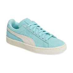 suede classic embossed sneaker by Puma. Subtle embossing adds textural intrigue to this street-savvy take on a classic PUMA sneaker.