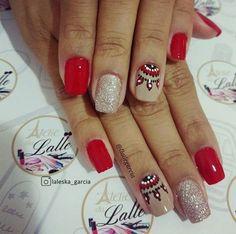 French Nail Designs, Nail Art Designs, Gel Nail Art, French Nails, Red Nails, Nail Arts, Spring Nails, Wedding Nails, Coffin Nails