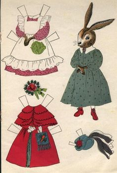 Bunny paper dolls 3