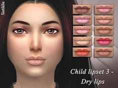 Sims 4 CC's - The Best: Child Lipset by Sintiklia