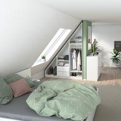 Loft Room, Bedroom Loft, Home Bedroom, Room Ideas Bedroom, Small Room Bedroom, Diy Bedroom Decor, Home Decor, Hall Design, Attic Rooms