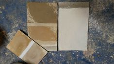 Campioni a calce effetto shabby. | Limewash samples for  shabby walls.