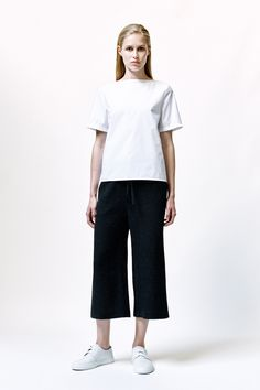 Shima Top, Corrie Trousers and Leather Sneakers | Samuji SS16 Classic Collection